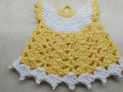 #Crochet Vintage Style Potholder Dress #TUTORIAL