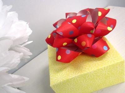 {DIY Christmas}❄DIY Paper Gift Bow