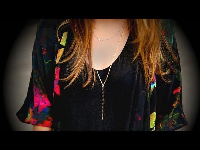 DIY Fashion | Y Chain Necklace | Designer DIY