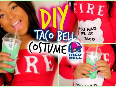 DIY Halloween Taco Bell Costume! Easy, No-Sew!