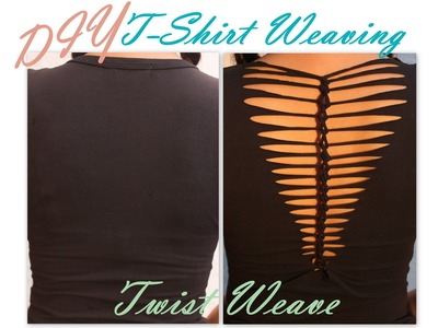 DIY - Shirt Laddering - TWIST Weave