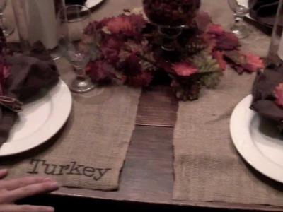 DIY: Thanksgiving Burlap Placemat   ShowMeCute