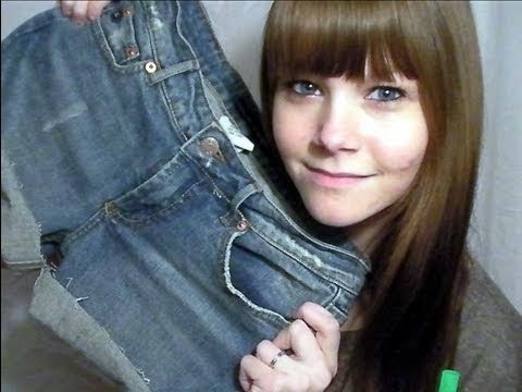 DIY: Turning Old Jeans into Denim Shorts
