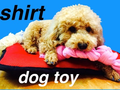 DOG T-SHIRT TOY - UPCYCLE RECYCLE  - DIY Dog Craft by Cooking For Dogs