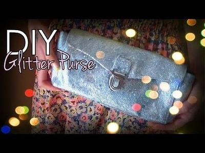 Easy DIY: Glitter Clutch.Purse♥--- Glam up an old purse