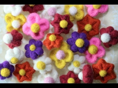 Easy Needle-Felted Flowers Tutorial.