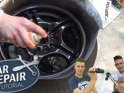 HOW TO FOIL A WHEEL RIM | DIY PlastiDip FOLIATEC spray film [Tutorial] HD