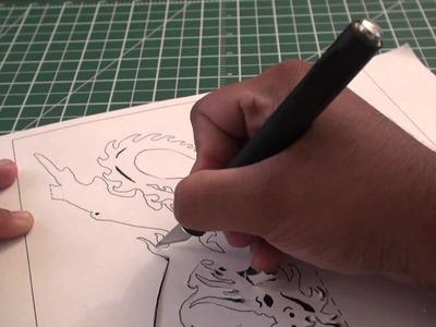 Kirigami Pop Up Ancient Dragon (Paper Craft) - TCGames [HD]!