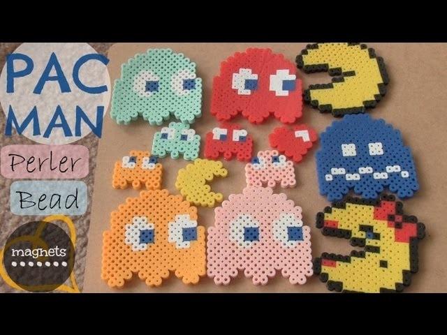 PAC MAN Perler Bead Magnets