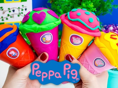 Peppa Pig Ice Cream Parlor Play Doh Ice Cream Playdough Ice Cream DIY La Heladería de Peppa Pig