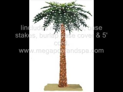 Prelit Tropical Palm Christmas Tree Artificial