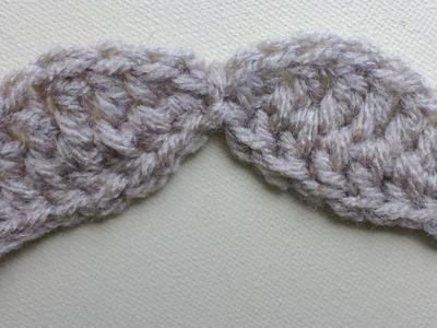 Wide Mustache Crochet Tutorial
