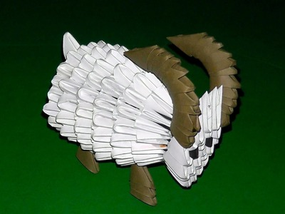 3D origami the Sheep (ewe, ram, goat) tutorial