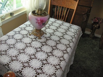 (5) Tableclothes Models Great Lace Designs Crochet Knitting New Trends