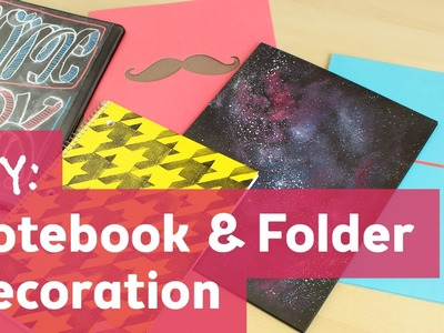 Back to School : Notebook and Folder Decoration