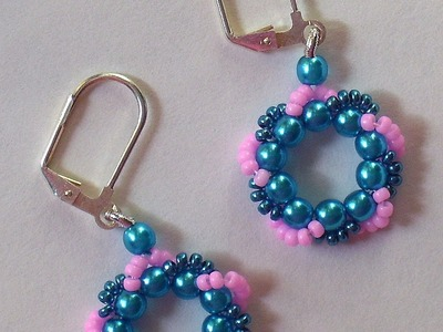 Beaded Wreath Earrings and Bracelet