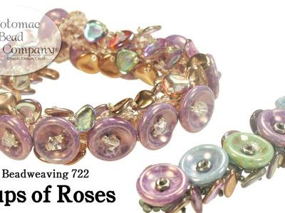 Beadweaving - Cups of Roses Bracelet