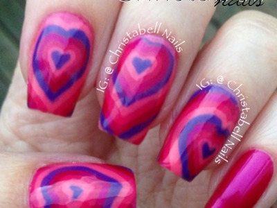 ChristabellNails Hearts Nails Tutorial -- A Quickie