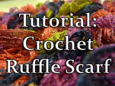 Crochet Ruffle Scarf with Sashay Yarn