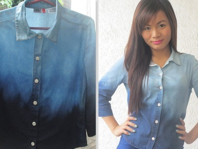 DIY: Acid Washed Ombre Denim Top