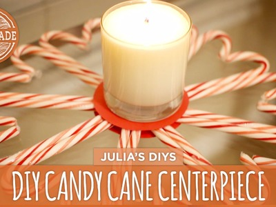 DIY Candy Cane Centerpiece - HGTV Handmade