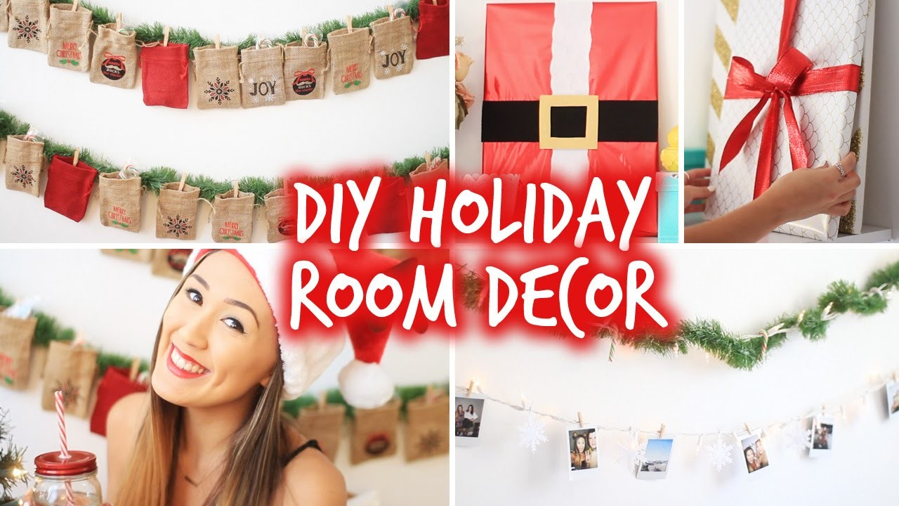 DIY Holiday Room Decor! Wall Decor & Christmas Advent Calendar