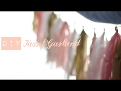 DIY How to make a Tissue Tassel Garland | Tutorial