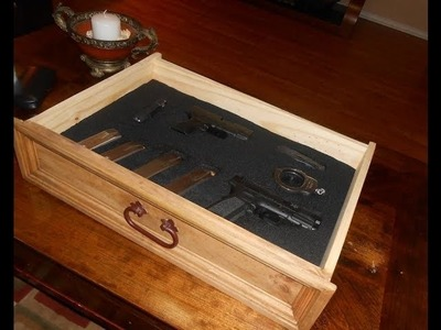 DIY, Nightstand with Secret Compartment for Gun Storage Pt.1 Tools, Materials and Layout