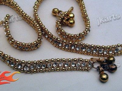 DIY  Wedding Jwellery Making - Payal (Anklet) - JK Arts  147