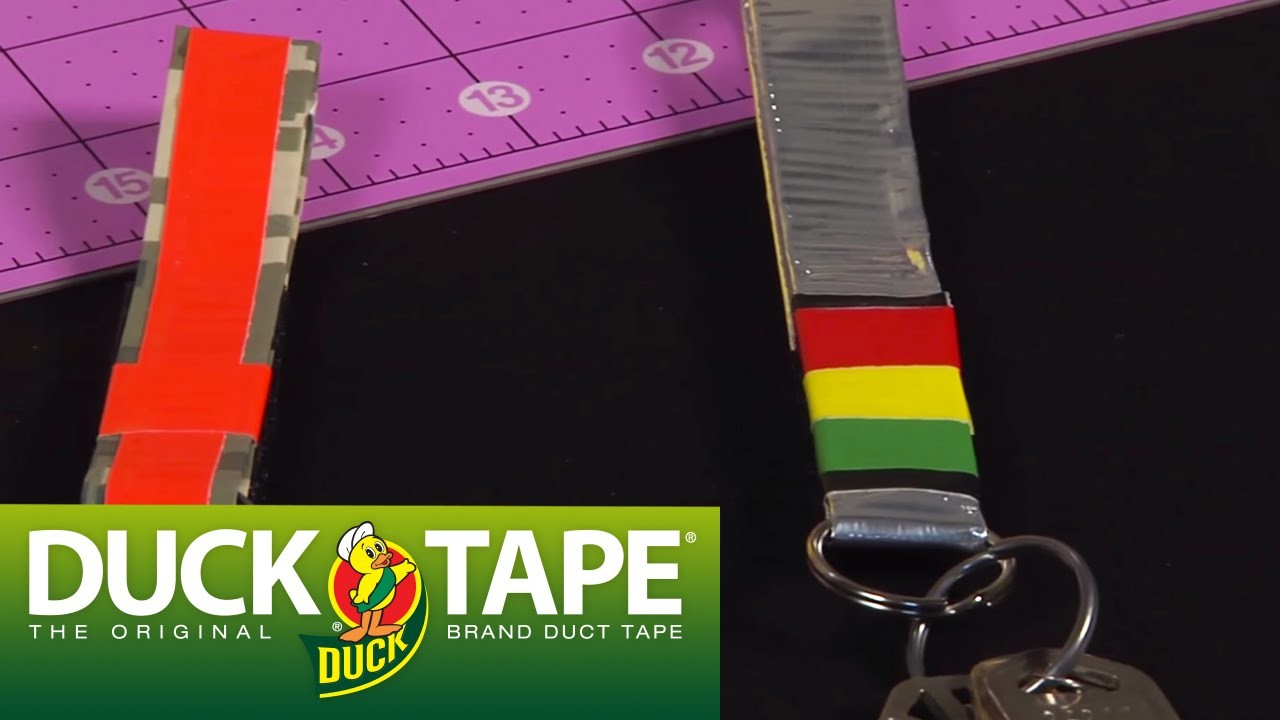 Duck Tape Craft Ideas: How to Make a Keychain