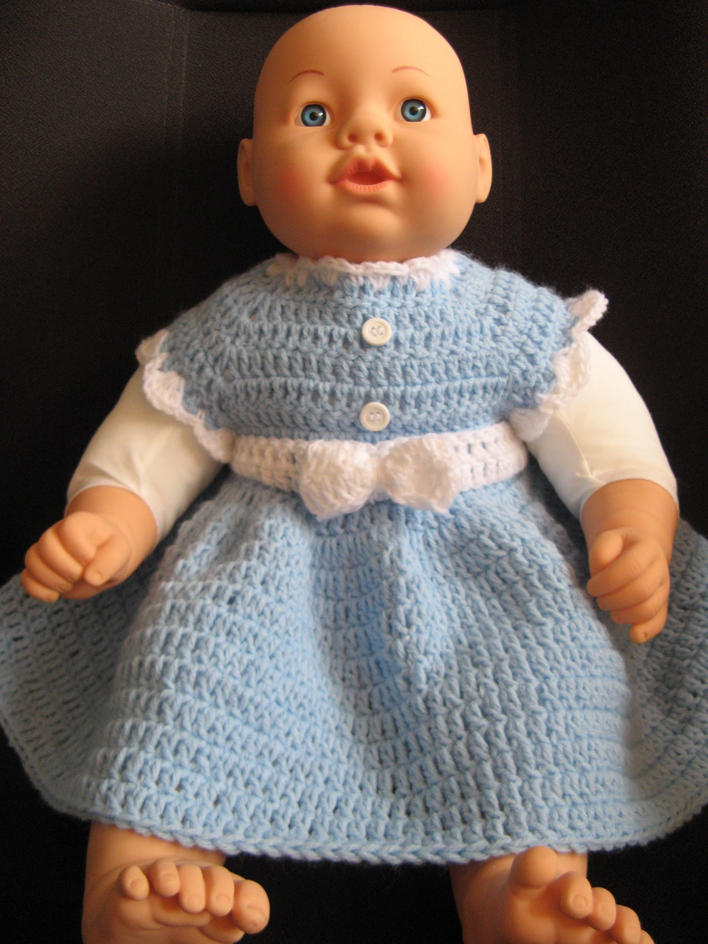 Easy crochet baby dress -  video two