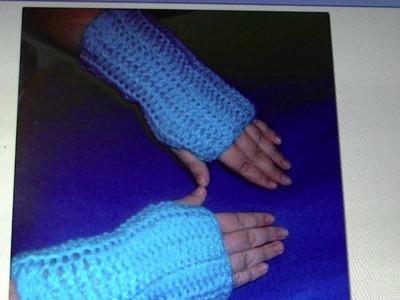 Easy finger-less gloves FREE written pattern