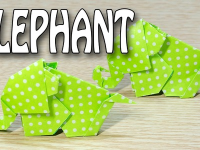 Elephant Origami :: How to make a cute little baby elephant with paper folding instructions