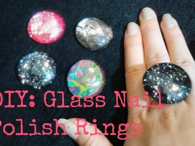 FASHION DIY: Glass Rings using Nail Polish!