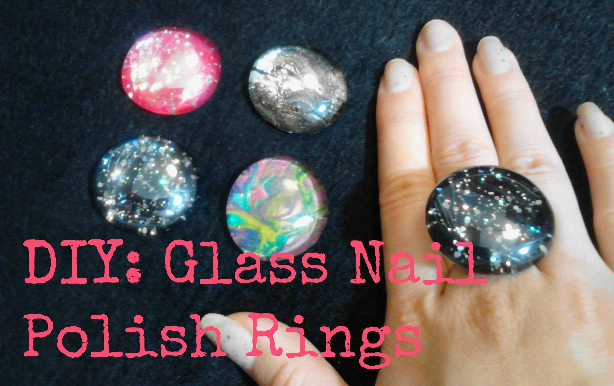 FASHION DIY: Glass Rings using Nail Polish!