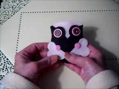 Felt Owl Pincushions or Ornaments  (An Easy, Inexpensive Craft)