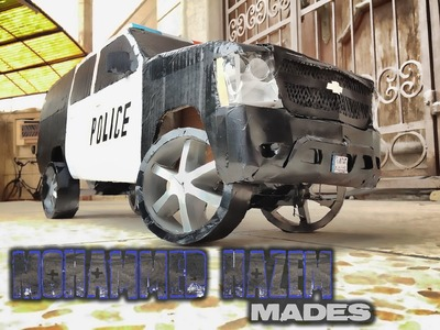 Handmade Paper Craft 2010 Chevrolet Suburban RC Police Car by Mohammed Hazem