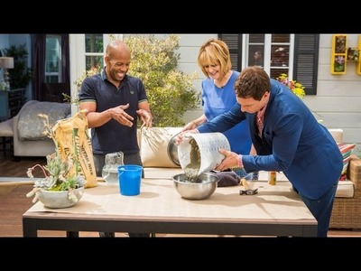 Home & Family - How to Make DIY Concrete Bowl Planters