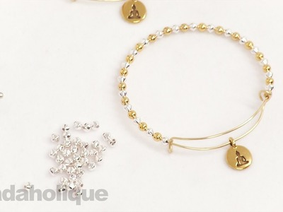 How to Add Beads and a Charm to an Expandable Charm Bangle made using the Artistic Wire 3D Bracelet