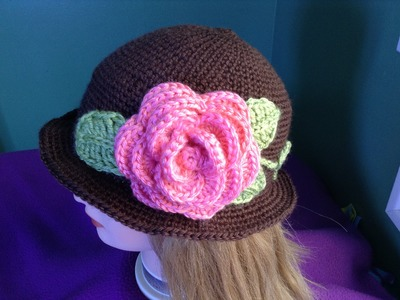 How to Crochet a Brimmed Flower Hat Part 1