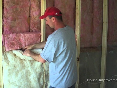 How To Install Fiberglass Batt Insulation & Vapor Barrier