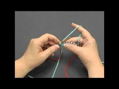 How to Knook: Knit Stitch (Left Handed)