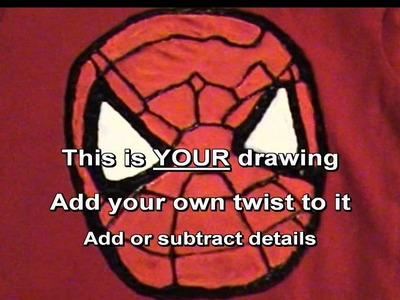 HOW TO- Make a 3D Spider Man T-Shirt