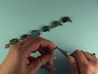 How to Make a Designer Chrysocolla Bead Bracelet (2 of 2)