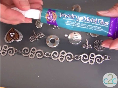 How To Make A Metal Charms Bracelet Using Aleene's Jewelry and Metal Glue