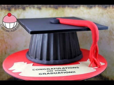 Make a Graduation Hat Cake Using your Giant Cupcake Mould! - A Cupcake Addiction How To Tutorial