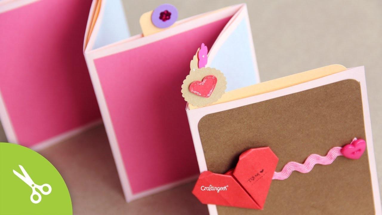 Manualidad dia de la madre: Pocket Stand-up Album. Regalo Día del amor y la amistad - 14 Febrero