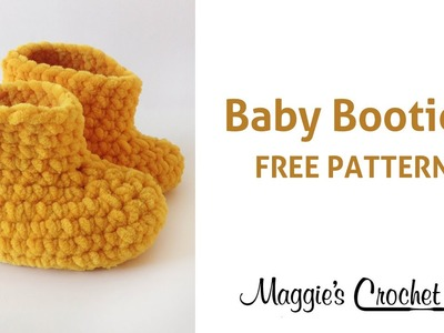 Parfait Baby Booties Free Crochet Pattern - Right Handed