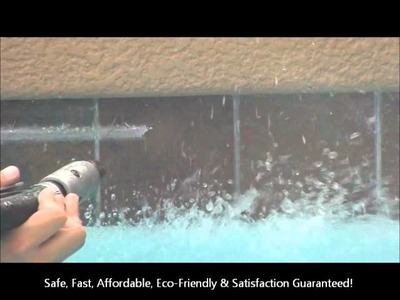 """Pool Tile Cleaning - """"New Process"""" - NO GLASS BEAD! - BullfrogPoolTileCleaning.com (623)388-6611"""