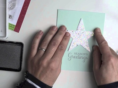 Sparkle Star with DIY Glitter Paper